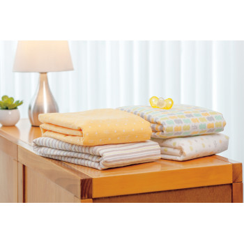 Flannel cotton receiving blankets ( 4 ).